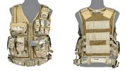 Lancer Tactical Adult Size Nylon Cross Draw Combat Vest with Mag Pouches in Modern Land Camo CA-310CN