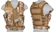 Lancer Tactical Adult Size Nylon Cross Draw Vest with Mag Pouches in Desert Digital Marpat Camo CA-310DDN