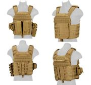 Lancer Tactical AK-47 MOLLE Assault Plate Carrier Vest in Tan CA-8257