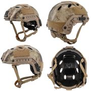 Lancer Tactical Ballistic MH Type Airsoft MilSim Railed Helmet in AT Desert Camo L/XL CA-726A