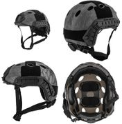 Lancer Tactical Ballistic MH Type Airsoft MilSim Railed Helmet in TYP Typhoon Camo Med/Large CA-726Y