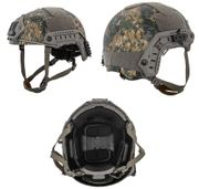 Lancer Tactical Ballistic MH Type Airsoft MilSim Railed Helmet in Woodland Digital Marpat Camo Med/Large CA-726MW