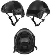 Lancer Tactical Ballistic Type Airsoft MilSim Railed Helmet Basic Version in Black CA-739B