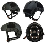 Lancer Tactical Ballistic Type Airsoft MilSim Railed Helmet in TYP Typhoon Camo Med/Large CA-726MP