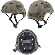 Lancer Tactical BJ NVG Basic Version with Visor Airsoft MilSim Railed Helmet in Custom Navy Dark Earth Med CA-842N