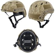 Lancer Tactical BJ NVG Basic Version with Visor Airsoft MilSim Railed Helmet in Desert Digital Marpat Camo Med CA-842D