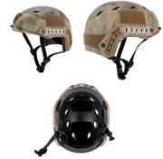 Lancer Tactical BJ NVG Type Basic Version Airsoft MilSim Railed Helmet in AT Camo Med CA-841A