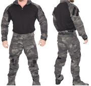 Lancer Tactical Combat Military MilSim Uniform Set in AT-LE Dark Night Camo CA-2760LE
