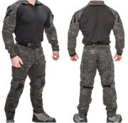 Lancer Tactical Combat Military MilSim Uniform Set in Modern Dark Night Land Camo CA-2760MB