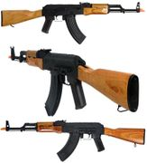 Lancer Tactical AK-47 Airsoft Gun with Real Wood Furniture & Stamped Steel Receiver LT-748M