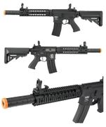 Lancer Tactical Suppressed M4 SD 9 Inch Airsoft Gun in Black LOW FPS LT-15CBL-G2-ME