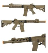 Lancer Tactical Suppressed M4 SD 9 Inch Airsoft Gun in Tan LOW FPS LT-15CTL-G2-ME
