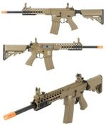 Lancer Tactical EVO M4 Evolution Keymod Airsoft Gun in Tan LOW FPS LT-19TL-G2-ME