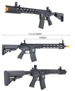 Lancer Tactical LT-25 HYBRID M4 Interceptor SPR Airsoft Gun in Black LT-25B-G2-E