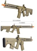 Lancer Tactical M4 Enforcer NightWing Airsoft Gun AEG in Tan with Alpha Stock LT-33TB-G2-ME