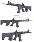 Lancer Tactical M4 Enforcer Series Blackbird Airsoft Gun with MOSFET and Alpha Stock in Black LOW FPS LT-30BBL-G2-ME