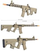 Lancer Tactical M4 Enforcer Series Blackbird Airsoft Gun with MOSFET and Alpha Stock in Tan LOW FPS LT-30TBL-G2-ME