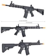 Lancer Tactical M4 Enforcer Series Blackbird Airsoft AEG with MOSFET and Crane Stock in Black LT-30BA-G2-ME