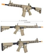 Lancer Tactical M4 Enforcer Series Blackbird Airsoft AEG with MOSFET and Crane Stock in Tan LT-30TA-G2-ME