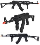 Lancer Tactical AK-47 RAS Airsoft Gun with Metal Upper Rail Bar LT-739U