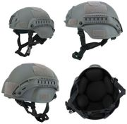 Lancer Tactical MICH 2000 SF Type NVG Airsoft MilSim Railed Helmet in Foliage Green CA-380F