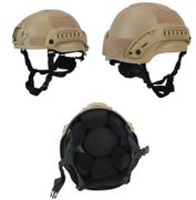 Lancer Tactical MICH 2002 SF Type NVG Airsoft Railed MilSim Helmet in Tan CA-381T
