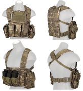 Lancer Tactical Airsoft MilSim Modular Chest Rig Vest with Hydration Bladder in Tropic Camo CA-307MT