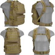 Lancer Tactical Multi-Purpose Bug Out Survival Escape Evade MOLLE Backpack in Dark Earth CA-355T