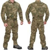 Lancer Tactical Operator Rugged Combat Military MilSim Uniform Set with Soft Shell Padding in AT-FG Camo CA-2754F