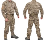 Lancer Tactical Operator Rugged Combat Military MilSim Uniform Set with Soft Shell Padding in AT-AU Camo CA-2754AU