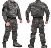 Lancer Tactical Operator Rugged Combat Military MilSim Uniform Set with Soft Shell Padding in AT-LE Dark Night Camo CA-2754LE