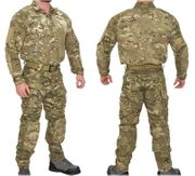 Lancer Tactical Operator Rugged Combat Military MilSim Uniform Set with Soft Shell Padding in Modern Land Camo CA-2754MA