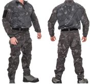 Lancer Tactical Operator Rugged Combat Military MilSim Uniform Set with Soft Shell Padding in TYP Typhoon Camo CA-2754TP