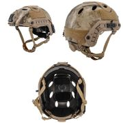 Lancer Tactical PJ Type Airsoft MilSim ATH Railed Helmet in AT Desert Camo Lrg/XL CA-725A
