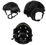 Lancer Tactical PJ Type Airsoft MilSim ATH Railed Helmet in Black Lrg/XL CA-725B