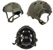 Lancer Tactical PJ Type Airsoft MilSim ATH Railed Helmet in Foliage Green Lrg/XL CA-725G