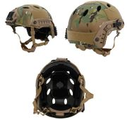 Lancer Tactical PJ Type Airsoft MilSim ATH Railed Helmet in Modern Land Camo Lrg/XL CA-725C
