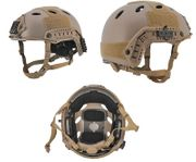 Lancer Tactical PJ Type Airsoft MilSim ATH Railed Helmet in Tan Lrg/XL CA-725T