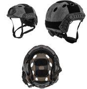 Lancer Tactical PJ Type Airsoft MilSim ATH Railed Helmet in TYP Typhoon Camo Lrg/XL CA-725Y