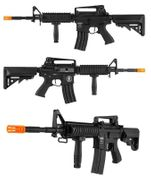 Lancer Tactical M4 RIS Airsoft Gun in Black LOW FPS LT-04BL-G2-ME