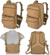 Lancer Tactical QD MOLLE Chest Rig with Built in Operators Survival Backpack in Khaki CA-1615KN