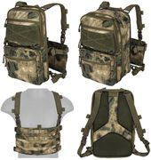 Lancer Tactical QD MOLLE Chest Rig with Built in Operators Survival Backpack in Modern Foliage Green Camo CA-1615FN