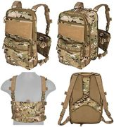 Lancer Tactical QD MOLLE Chest Rig with Built in Operators Survival Backpack in Modern Land Camo CA-1615CN