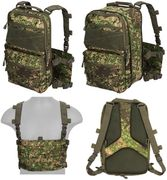 Lancer Tactical QD MOLLE Chest Rig with Built in Operators Survival Backpack in PC Green Zone Camo CA-1615PN