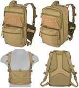 Lancer Tactical QD MOLLE Chest Rig with Built in Operators Survival Backpack in Tan CA-1615TN