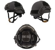 Lancer Tactical Sentry Style Airsoft MilSim Railed Helmet in Black Large/XL CA-876B