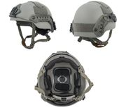 Lancer Tactical Sentry Style Airsoft MilSim Railed Helmet in Foliage Green Med/L CA-876MG