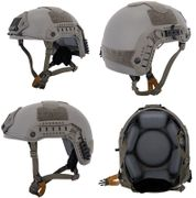 Lancer Tactical Airsoft MilSim Simple Version Maritime ATH Railed Helmet in Foliage Green CA-849G