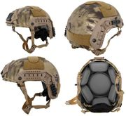 Lancer Tactical Airsoft MilSim Simple Version Maritime ATH Railed Helmet in HLD Scorpion Camo CA-849H