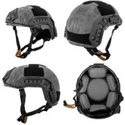 Lancer Tactical Airsoft MilSim Simple Version Maritime ATH Railed Helmet in TYP Typhoon Camo CA-849P
